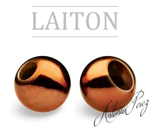 25 Billes Laiton 3mm Café