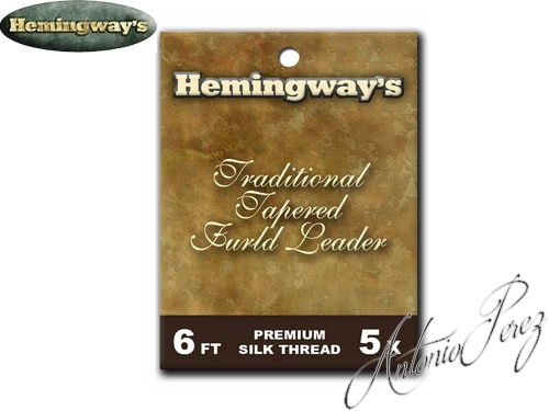 Bas de Ligne HEMINGWAY'S Traditional Tapered Furled Leader  6FT  5X