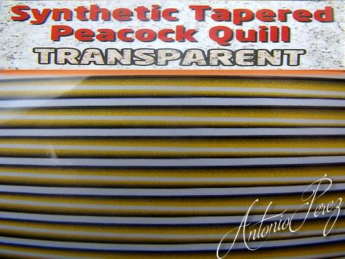 Synthetic Tapered Quill Jaune Transparent Autocollant
