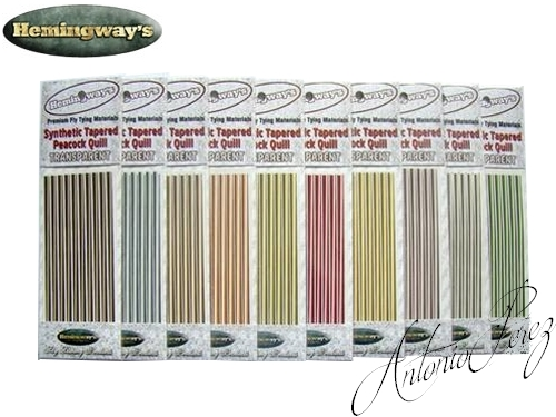Synthetic Tapered Quill PACK MIX Transparent Autocollant
