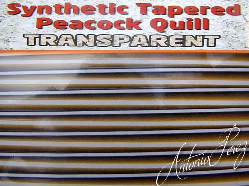 Synthetic Tapered Quill Beige Transparent Autocollant
