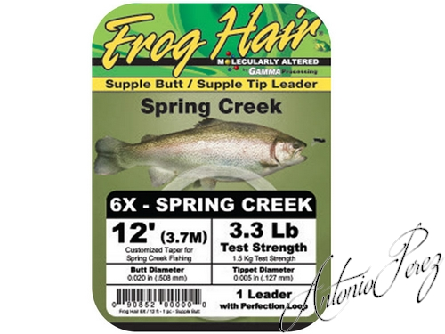 Leader Mono Spring Creek Frog Hair 6X
