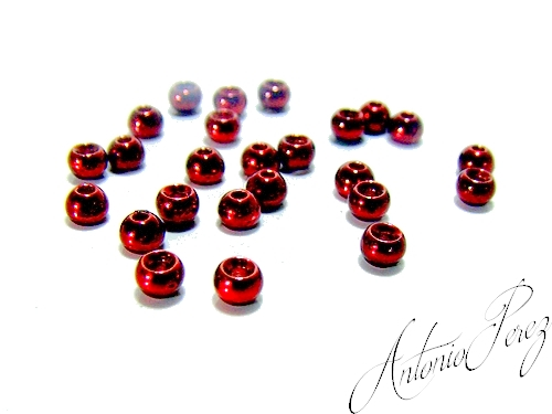 25 Billes Tungsten Rouge