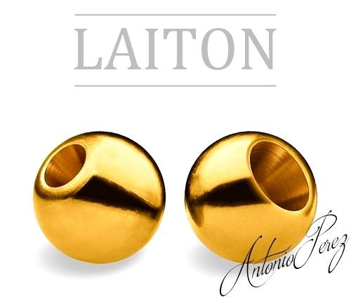 25 Billes Laiton 3mm Or