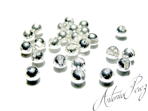 25 Billes Tungsten Fendues Chrome
