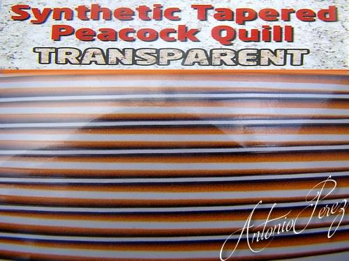 Synthetic Tapered Quill Orange Transparent Autocollant