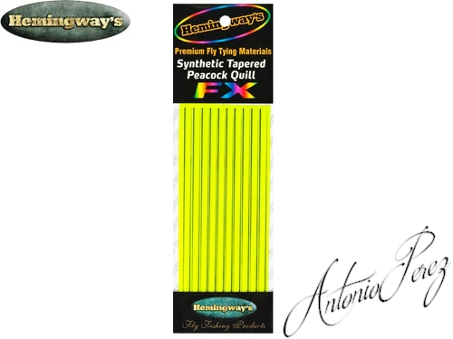 Synthetic Tapered Quill Jaune Fluo Autocollant