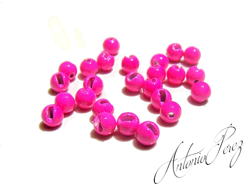 25 Billes Tungsten Fendues Rose Fluo