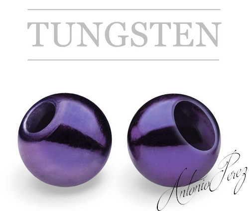 25 Billes Tungsten Deep Red Purple