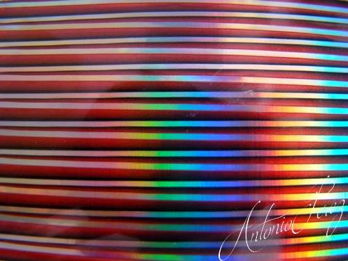Synthetic Tapered Quill Holographic Rouge Autocollant