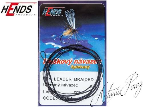Fly Leader Braided Tapered HENDS Noir/120cm