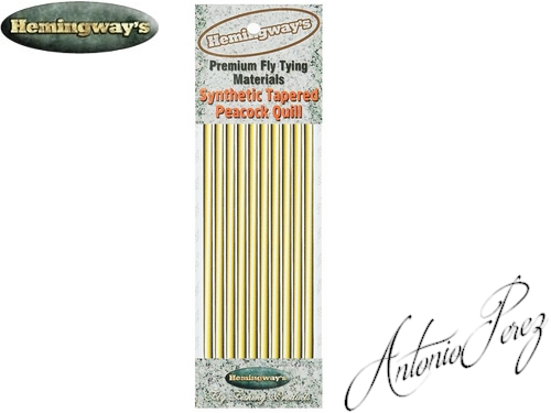 Synthetic Tapered Quill Jaune Olive Autocollant