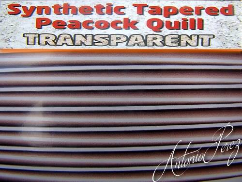 Synthetic Tapered Quill Gris Transparent Autocollant