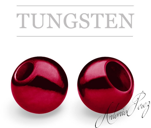 25 Billes Tungsten Rouge Sang