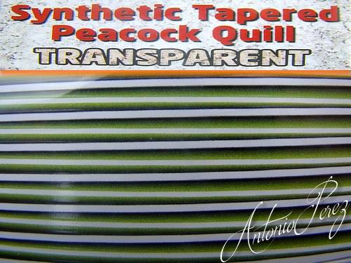 Synthetic Tapered Quill Vert Transparent Autocollant