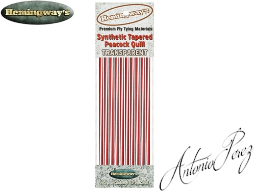Synthetic Tapered Quill Rouge Transparent Autocollant
