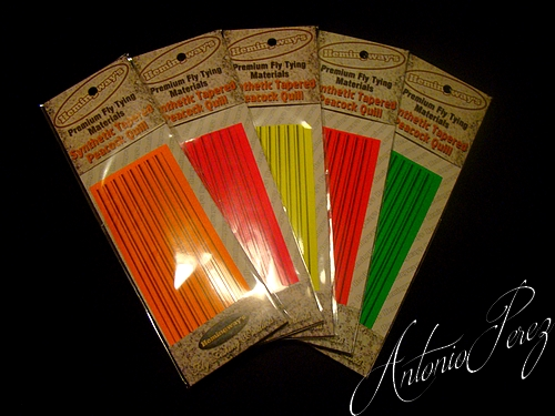 Synthetic Tapered Quill PACK MIX FLUO Autocollant