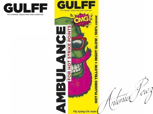 Résine UV  GULFF Ambulance Hot fluoro Yellow !