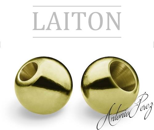 25 Billes Laiton Olive 3mm