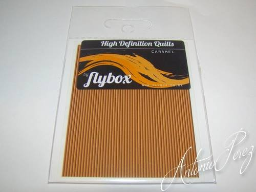 "Quill Synthétique ""Haute Définition"" Flybox Caramel"