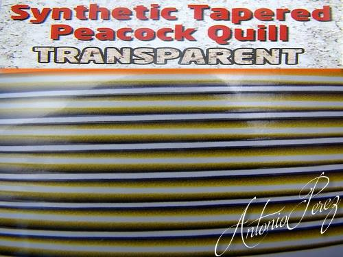Synthetic Tapered Quill Jaune Olive Transparent Autocollant