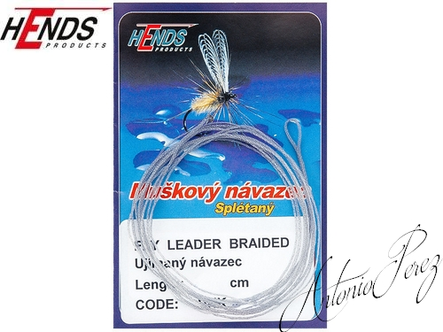 Fly Leader Braided Tapered HENDS Gris/60cm