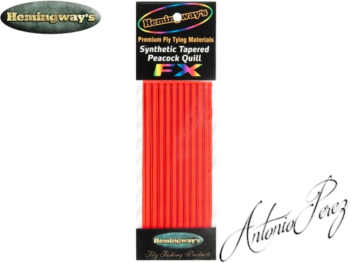 Synthetic Tapered Quill Rouge Fluo Autocollant