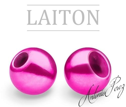 25 Billes Laiton 3mm Rose
