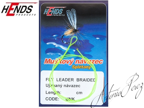 Fly Leader Braided Tapered HENDS Jaune Fluo/160cm