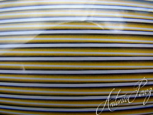 Synthetic Tapered Quill Jaune Autocollant