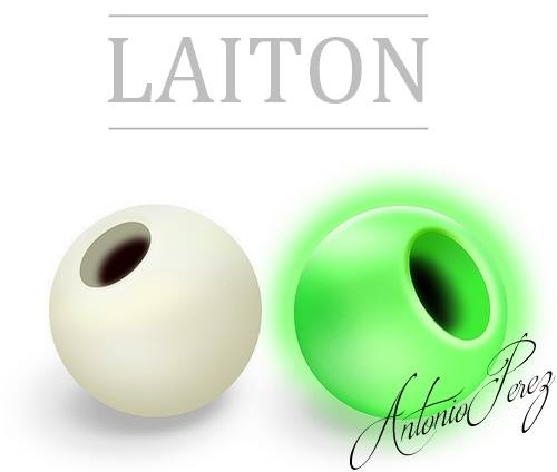 25 Billes Laiton Blanc Phosphorescent 3mm