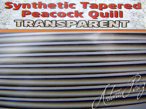 Synthetic Tapered Quill Naturel Transparent Autocollant